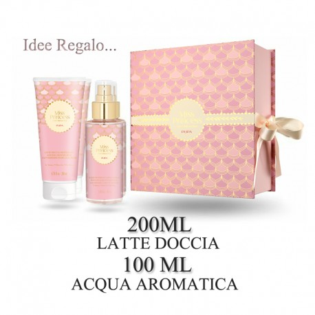 kit-latte-doccia-acqua-aromatica-donna-miss-princess-pupa-tè-bianco-profumerie-negozi-in-valle-brembana
