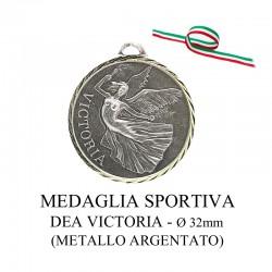 Medaglia sportiva in metallo argentato - Dea Victoria
