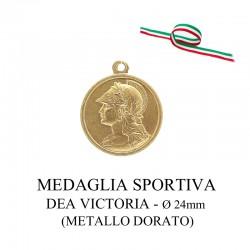 Medaglia sportiva in metallo dorato - Dea Victoria