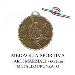 Medaglia sportiva in metallo bronzato - Arti Marziali