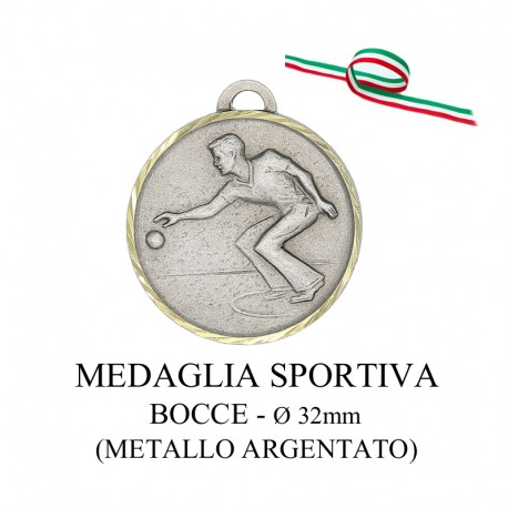 Medaglia sportiva in metallo dorato - Bocce