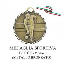 Medaglia sportiva in metallo bronzato - Bocce