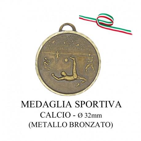 Medaglia sportiva in metallo bronzato - Calcio