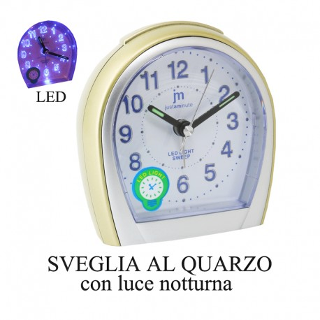 Sveglia al quarzo led light - Justaminute