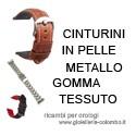 Ricambi per orologi da polso - cinturini in pelle, metallo, gomma, tessuto